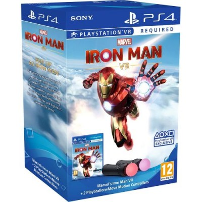 Sony PlayStation Move Controller + Game Marvel's Iron Man VR
