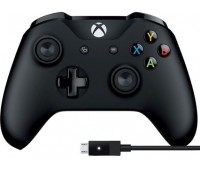 Gamepad Microsoft Xbox One S Black + cable for Windows